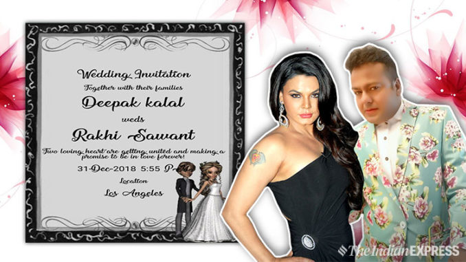 rakhi and deepak marriage card